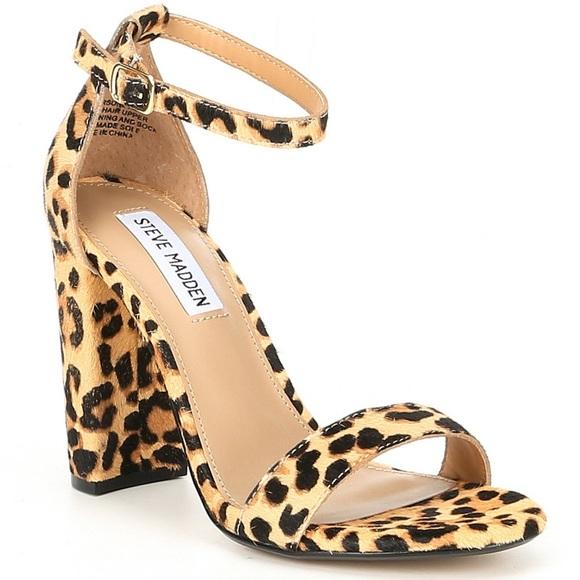 Steve Madden Leopard Calf Hair Sandals